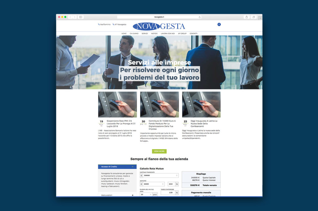 Sito web in Joomla